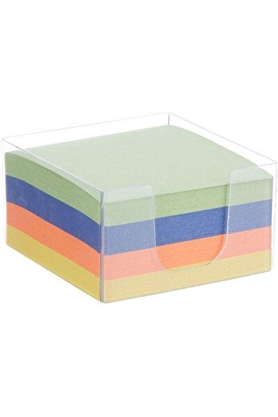 Livart Umur Plastik Kutulu Renkli Küp Blok Not Kağıdı Blok Not 8.5x8.5cm