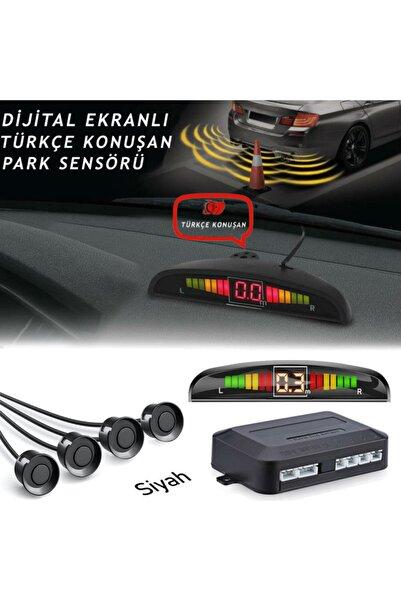 GPR Türkçe Konuşan Dijital Ekranlı Park Sensörü (siyah)