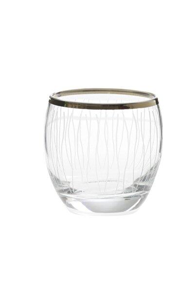 Paşabahçe West Glass Gold Kaplama 6'lı Barrel Viski Bardağı Line Desen