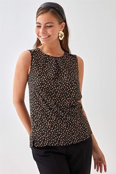 Chima Kadın Siyah Kolsuz Bluz K21BL029
