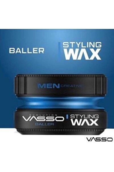 Vasso Men Tüm Saç Tipleri Için Yağlanma Yapmayan Parlak Görünüm Veren Neme Karşı Dayanıklı Wax -  150 Ml