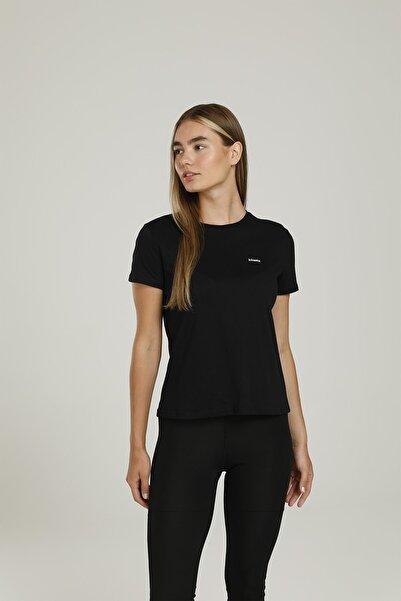 Kinetix Sn235 Basıc Curve T-shırt Siyah Kadın T-shirt