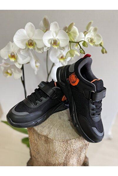 Corby Ortopedik Çocuk Spor Ayakkabısı, Çocuk Spor Ayakkabı, Okul Ayakkabısı, Siyah Spor Ayakkabı