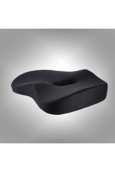 Tam12 Ortopedik Hafızalı Dik Oturuş Minderi Kuyruk Sokumu Destekli Koltuk Dik Oturma Yastığı