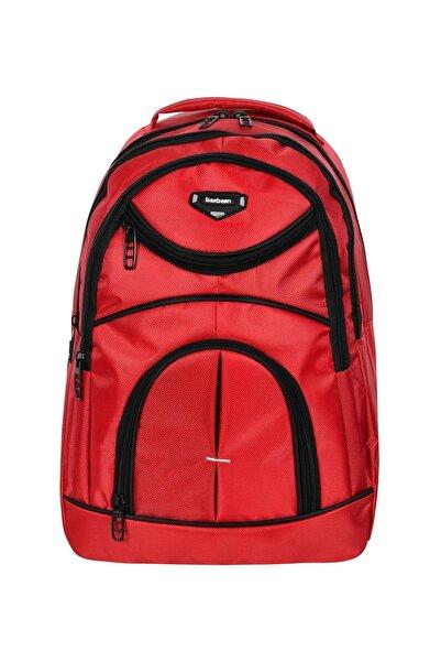 DahaDahaVar Çok Amaçlı Laptop Dizüstü Bilgisayar Bölmeli Sırt Çanta Kırmızı