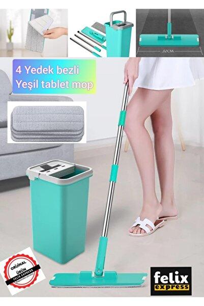 felix express 4 Adet Yedek Bezli Tablet Fayans Parke Temizleme Seti Mopu