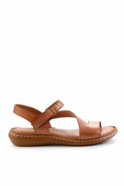 Bambi Taba Hakiki Deri Kadın Sandalet K05907021603