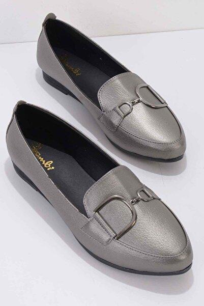 Bambi Platin Kadın Loafer Ayakkabı K01797003509