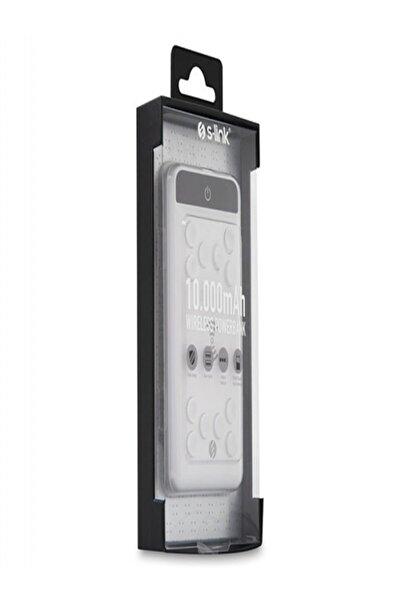 S-LINK Ip-w11 10000mah Powerbank 2 Usb Port Beyaz Kablosuz Taşınabilir Pil Şarj Cihazı