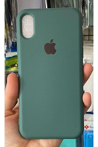 Go Aksesuar Iphone X Ve Xs Uyumlu Haki Yeşil Renk Logolu Içi Kadife Lansman Kılıf