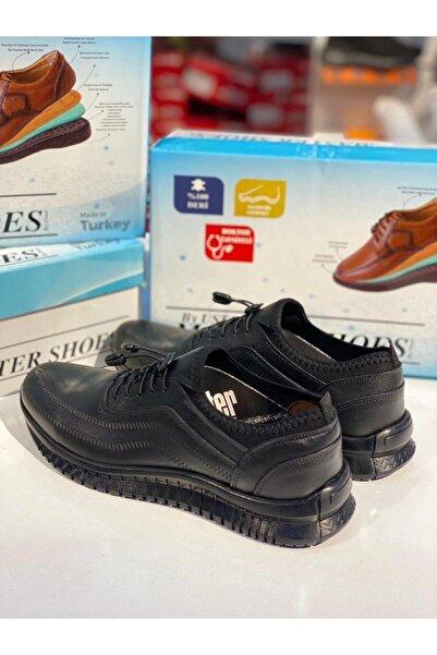 Master Deriland Park Hakiki Deri Günlük Erkek Ayakkabı Siyah