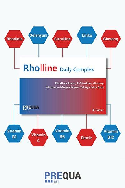 PREQUALIFE Rhollıne Daıly Complex 30 Tablet Rhodiola Rosea, Citrulline, Ginseng, Vitamin Ve Mineral Kompleks