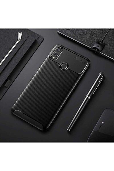 Huawei Rotaks Honor 8x Kılıf Karbon Tasarım Parmak Izi Yapmaz Dayanıklı Silikon Negro