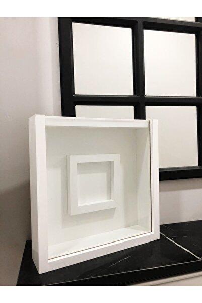 Torman mobilya dekorasyon 30*30 Içi Resimlikli Beyaz Çerçeve
