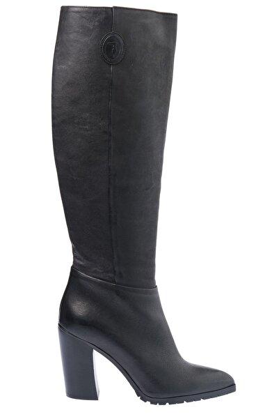 Trussardi Kadın Deri Topuklu Çizme