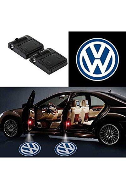 ünlütürkotoaksesuar Vw Volkswagen Pilli Kapı Altı Led Logo 2 Adet