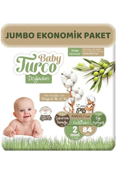 Baby Turco Doğadan 2 Numara Mini Bebek Bezi 84 Lü