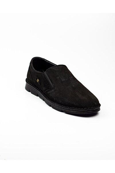 Nobel 1005 Erkek Mokasen Nubuk Deri Günlük Ayakkabı Siyah Siyah-44