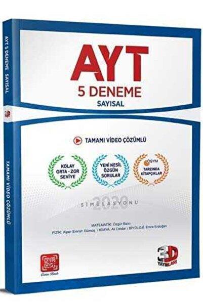 3D Yayınları Yks - Ayt 5'li Sayısal Deneme Tamamı Video Çözümlü-2022