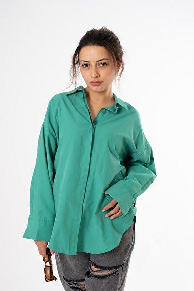 snc Kadın Uzun Kol Gömlek 0854qu21y Yeşil