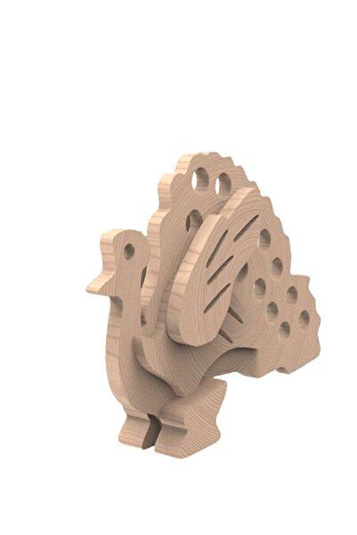 Uçandaire Ahşap 3d Yapboz Puzzle 11 Parça Tavus Kuşu