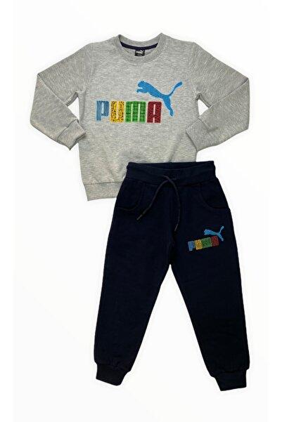 Puma Erkek Çocuk Gri Eşofman Takımı
