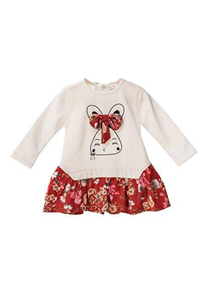moto angela Kız Bebek Elbise Çocuk Elbisesi Pamuklu ( 0-4 Yaş ) Nt23