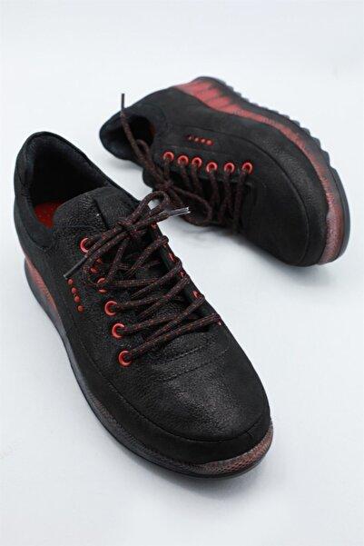 Mammamia Günlük Rahat Topuklu Siyah Ays Kadın Ayakkabı 3295