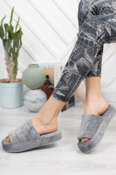 Moda Frato Smt-01 Açık Kadın Ev Terliği Kışlık Terlik