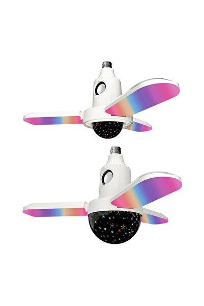 CRDKC Katlanabilir Uzaktan Kumandalı Fan Tipi Tavan Lamba Ve Hoparlör