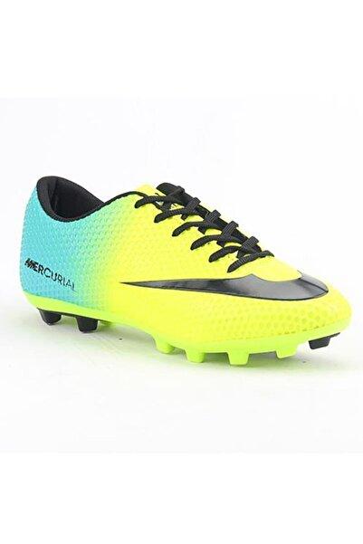 Walked Erkek Sarı Krampon Futbol Spor Ayakkabı