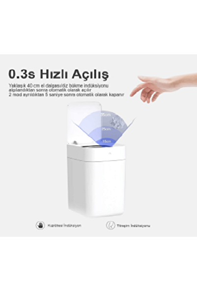 Xiaomi Townew T1 Tam Otomatik Akıllı Çöp Kovası