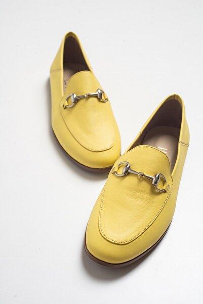 Luvi F03 Sarı Cilt Deri Babet