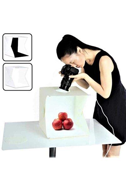 Cooltech Ürün Çekim Çadırı Mini Fon Fotoğraf Stüdyosu Ledli Işık Perdesi 20x20 Cm 2 Arkafon+çanta