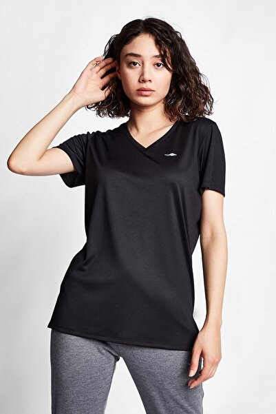 Lescon Siyah Kadın Kısa Kollu T-shirt 21s-2208-21n