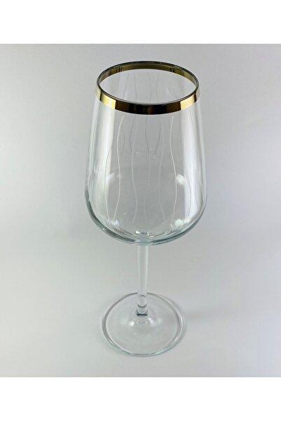 Paşabahçe West Glass Gold Kaplama 6'lı Allegra Kadeh Line Desen