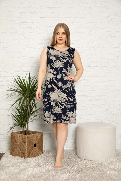 ASEL PİJAMALARI Kadın Yazlık Büyük Beden Elbise