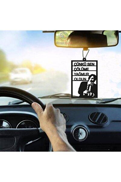 RetroLazer Araba Süsü Çünkü Sen Müslüm Dikiz Aynası Süsü Ahşap