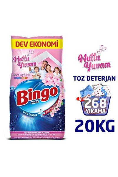 Bingo Matik 10 Kg Mutlu Yuvam Renkliler Ve Beyazlar Toz Çamaşır Deterjanı Ekonomi Paketi 2'li