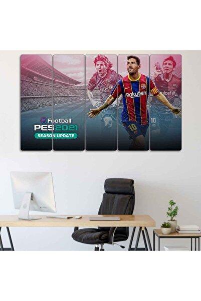 Evonya Lionel Messi, Pes2021 - 5 Parçalı Dekoratif Tablo