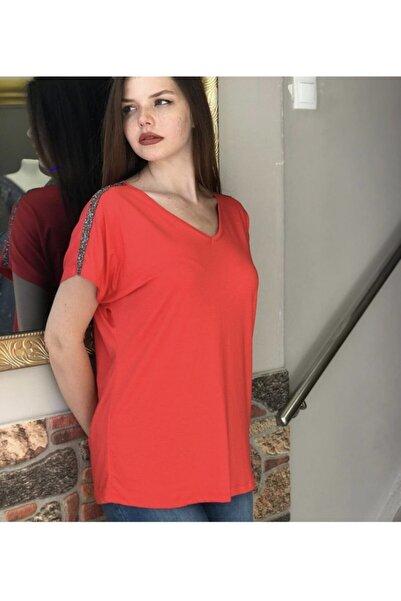 TREND Kadın Omuz Taş Detay Bluz