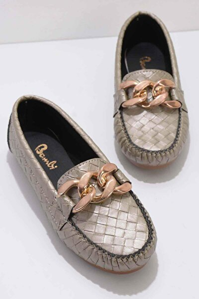 Bambi Altın Kadın Loafer Ayakkabı K01542030610