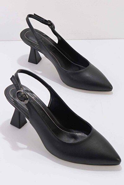 Bambi Siyah Kadın Klasik Topuklu Ayakkabı K01840500009
