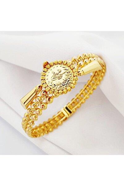 altınplaza Tuğralı Top Top Altın Kelepçe Bileklik Fb02840