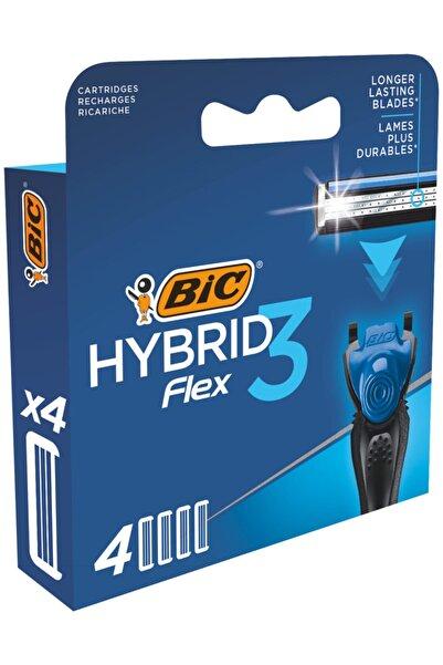 Bic Flex 3 Hybrid Yedek Tıraş Bıçağı Kartuşu 4'lü Kutu 3 Bıçak