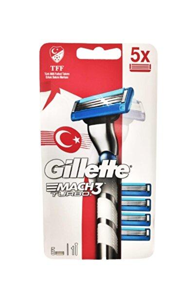 Gillette Mach3 Turbo Tıraş Makinesi +5 Yedek Milli Takım