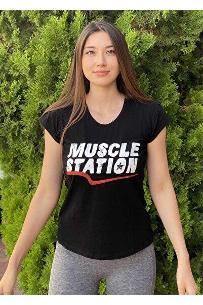 Muscle Station Kısa Kollu Kadın Antreman Tshirt