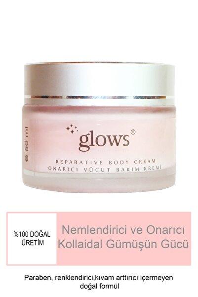 Glows Cilt Lekesi Giderici Gümüşlü Nemlendirici Onarıcı Vücut  El ve Yüz Bakım Kremi 50 ml