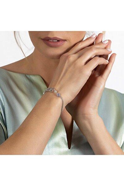 Tesbihane Multicolor Zirkon Taşlı Sonsuzluk Tasarım Kelebek Detaylı 925 Ayar Gümüş Kadın Bileklik