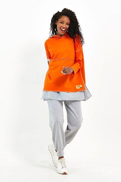 VOLT CLOTHİNG Kadın Kapüşonlu Alt Üst Eşofman Takımı